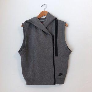 Nike Women's tech fleece cape vest hoodie